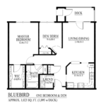 Bluebird Floor Plan